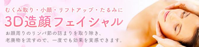3D造顔フェイシャル│45分6,300円